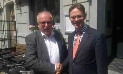 Tom Hultin meets Jyrki Katainen